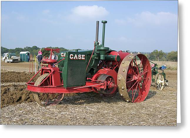 Vintage Case Tractor Greeting Card by Gerry Walden