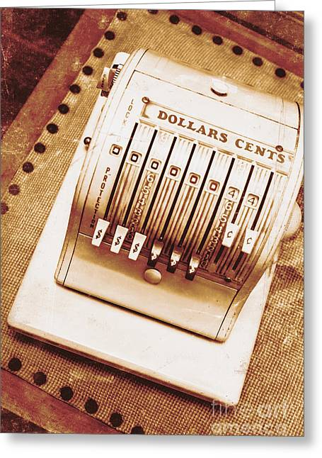 Vintage Cash Register  Greeting Card by Jorgo Photography - Wall Art Gallery