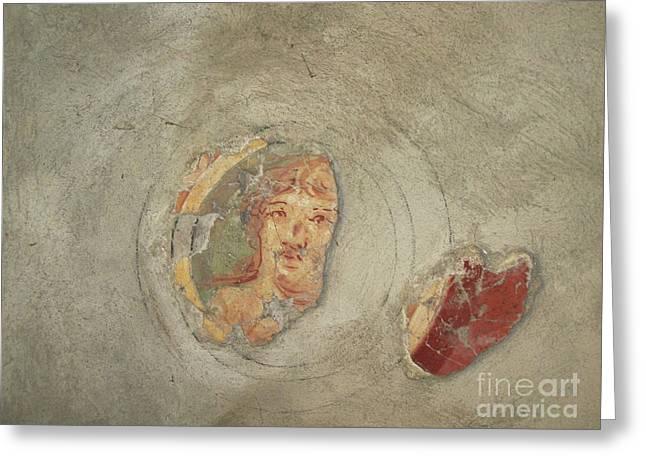 vintage ceramic illustration in Pompei Greeting Card