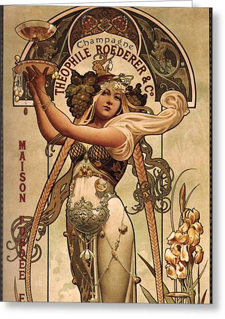 Vintage Champagne Ad Greeting Card