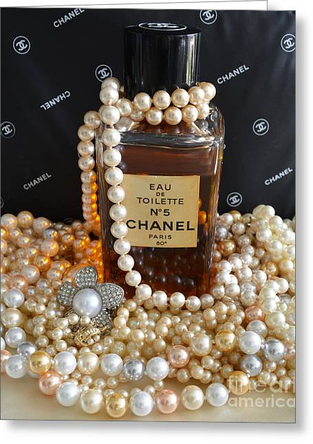 Vintage Chanel No 5  Greeting Card by To-Tam Gerwe