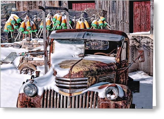 Vintage Chevrolet Greeting Card by Richard Bean