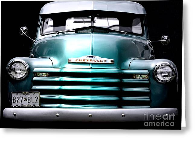 Vintage Chevy 3100 Pickup Truck Greeting Card by Steven  Digman