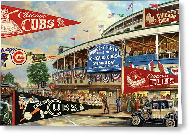 Vintage Chicago Cubs Greeting Card
