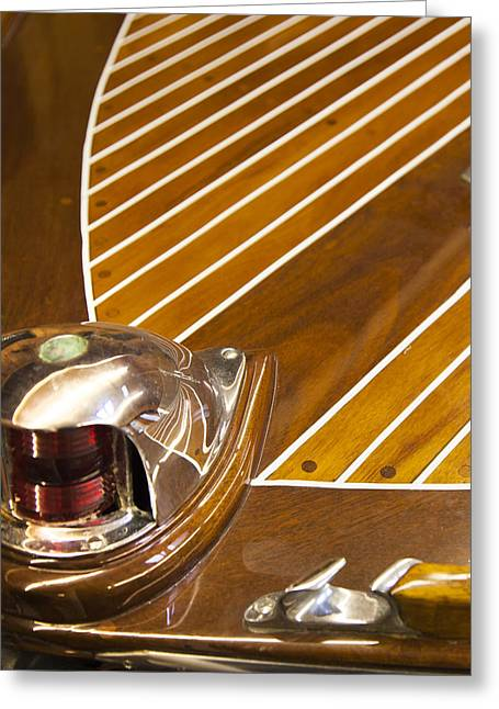 Vintage Century Boat Bow Light Greeting Card
