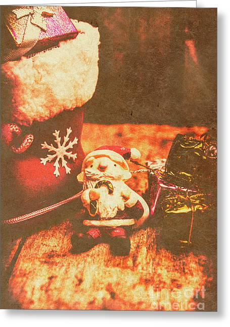 Vintage Christmas Art Greeting Card by Jorgo Photography - Wall Art Gallery