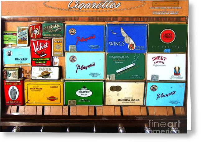 Vintage Cigarette Dispenser 20150830 Greeting Card by Wingsdomain Art and Photography