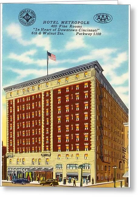 Vintage Cincinnati Postcard Greeting Card
