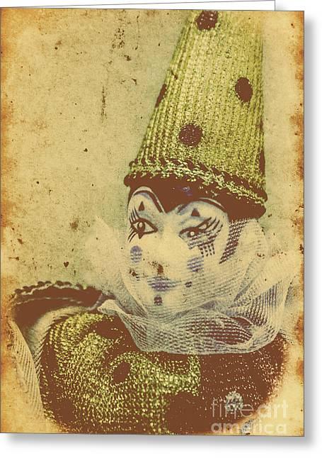 Vintage Circus Postcard Greeting Card