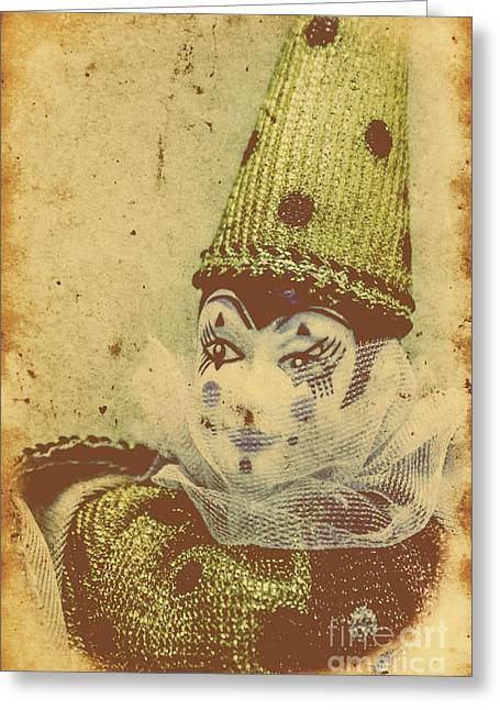 Vintage Circus Postcard Greeting Card