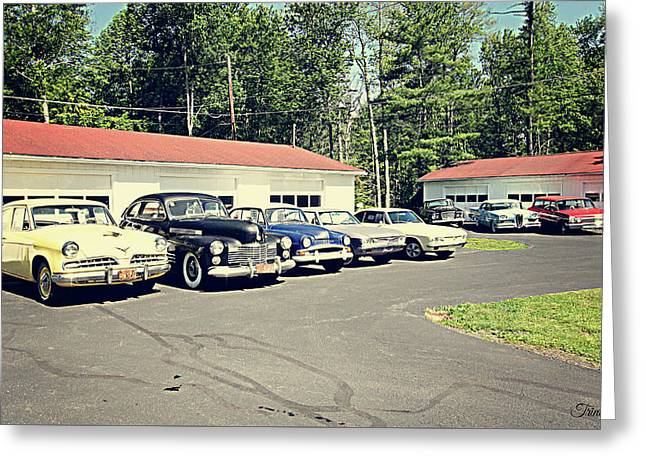 Greeting Card featuring the photograph Vintage Classic Cars by Trina Ansel