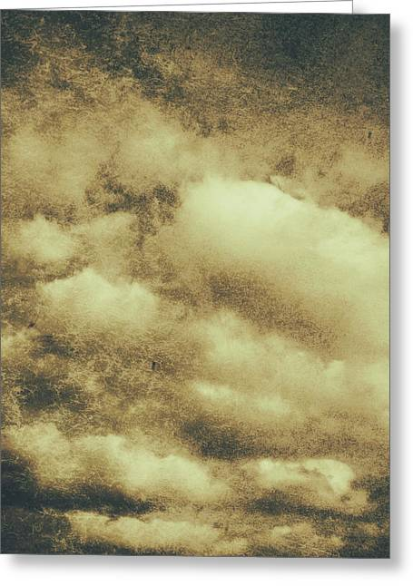 Vintage Cloudy Sky. Old Day Background Greeting Card