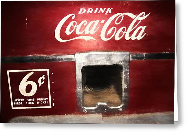 Vintage Coca Cola Vending  Greeting Card
