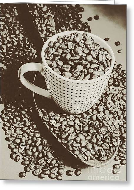 Vintage Coffee Art. Stimulant Greeting Card by Jorgo Photography - Wall Art Gallery