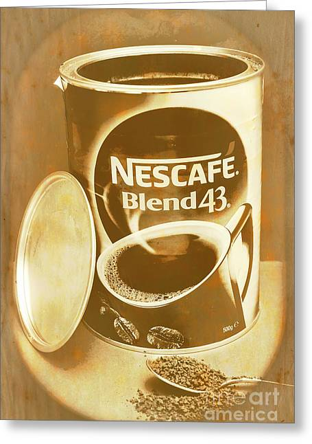 Vintage Coffee Product Adverting Greeting Card by Jorgo Photography - Wall Art Gallery