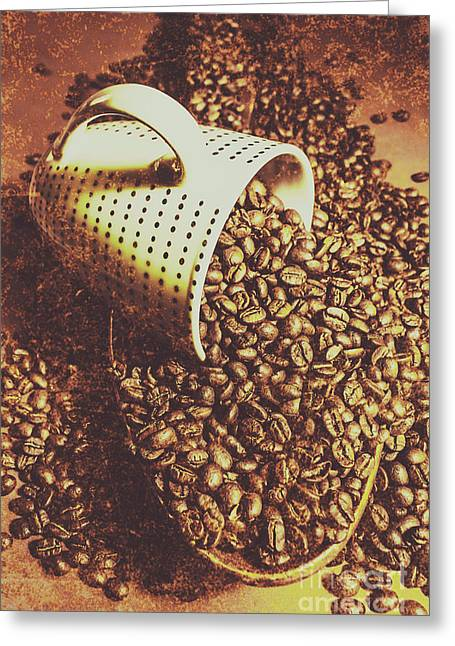 Vintage Coffee Shop Scene Greeting Card