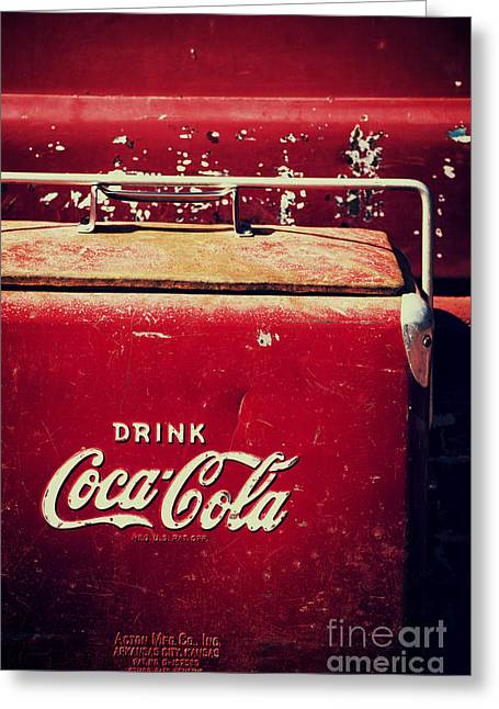 Vintage Coke Cooler Greeting Card by Tim Gainey