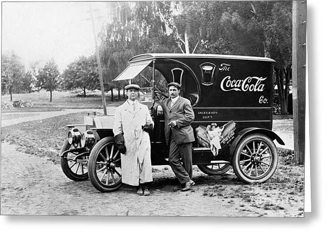 Vintage Coke Delivery Truck Greeting Card