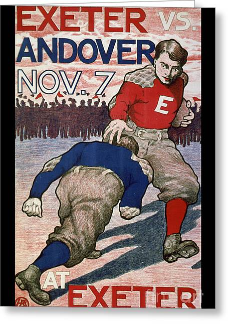 Vintage College Football Exeter Andover Greeting Card