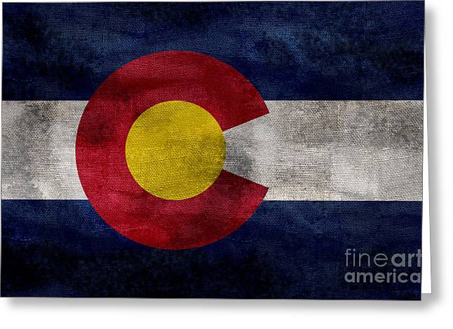 Vintage Colorado Flag Greeting Card