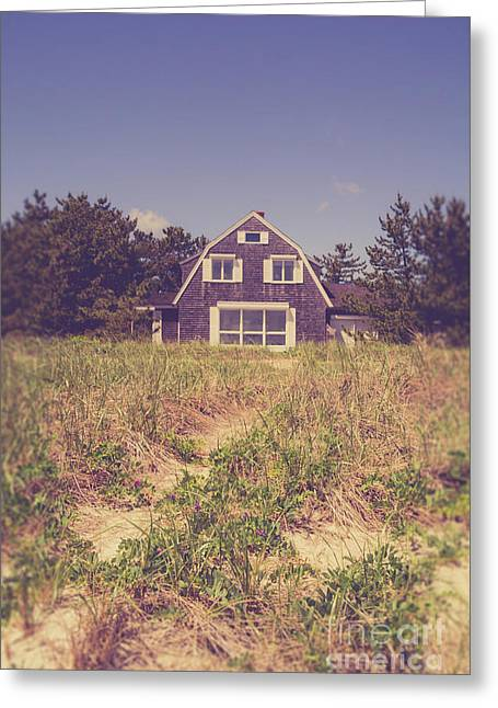 Vintage Cottage Cape Cod Greeting Card by Edward Fielding