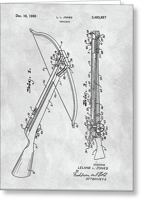Vintage Crossbow Patent Greeting Card