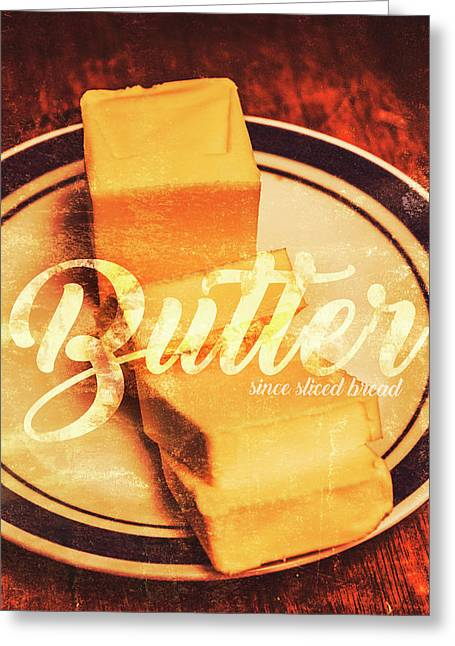 Vintage Dairy Product Advertisement Greeting Card by Jorgo Photography - Wall Art Gallery