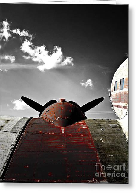 Vintage Dc-3 Aircraft  Greeting Card