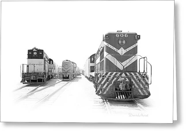 Vintage Diesels Greeting Card by David Horst