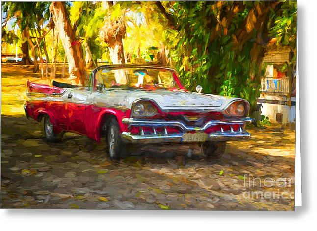 Vintage Dodge Custom Royal 1957 Greeting Card