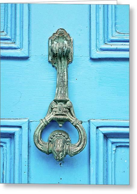 Vintage Door Knocker Greeting Card by Tom Gowanlock