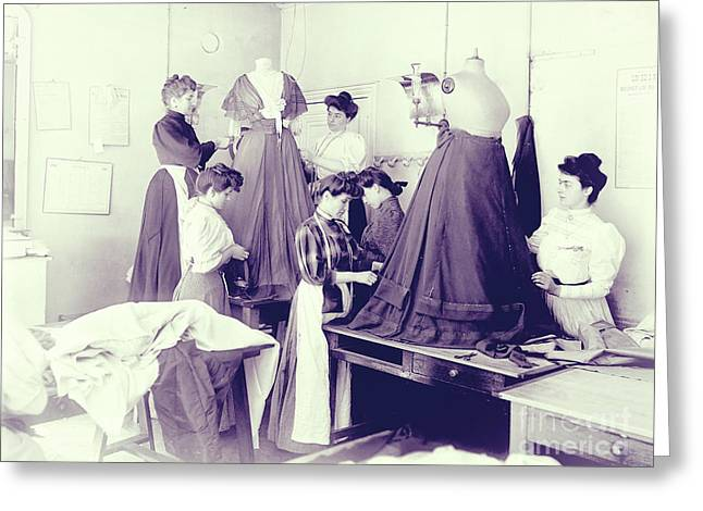 Vintage Dressmakers Greeting Card
