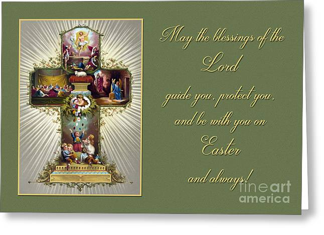 Greeting Card featuring the photograph Vintage Easter Blessings by JH Designs