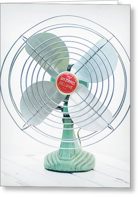 Vintage Electric Fan 1950 Greeting Card by Terry DeLuco
