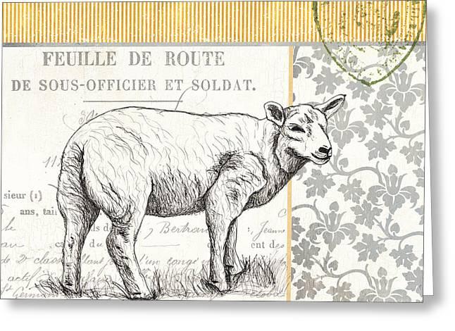 Vintage Farm 3 Greeting Card by Debbie DeWitt
