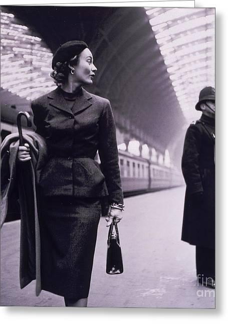 Vintage Fashion Elegant Lady Greeting Card