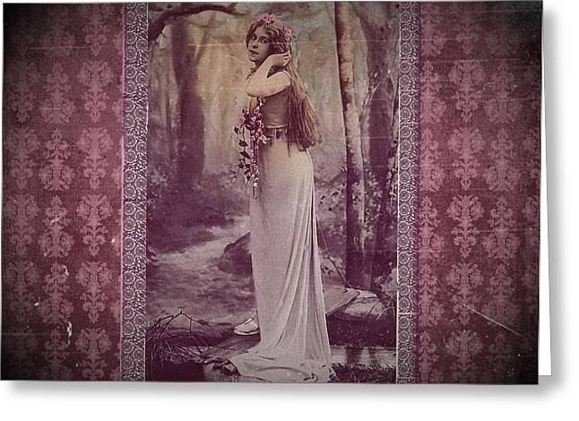 Vintage Femme Fatale Greeting Card