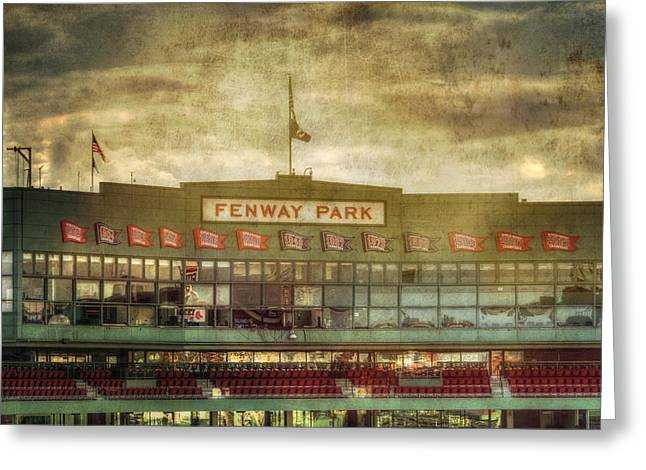 Vintage Fenway Park - Boston Greeting Card by Joann Vitali