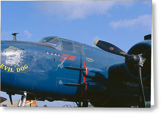 Vintage Fighter Aircraft, Burnet, Texas Greeting Card