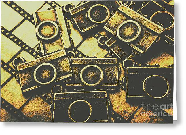 Vintage Film Camera Scene Greeting Card by Jorgo Photography - Wall Art Gallery