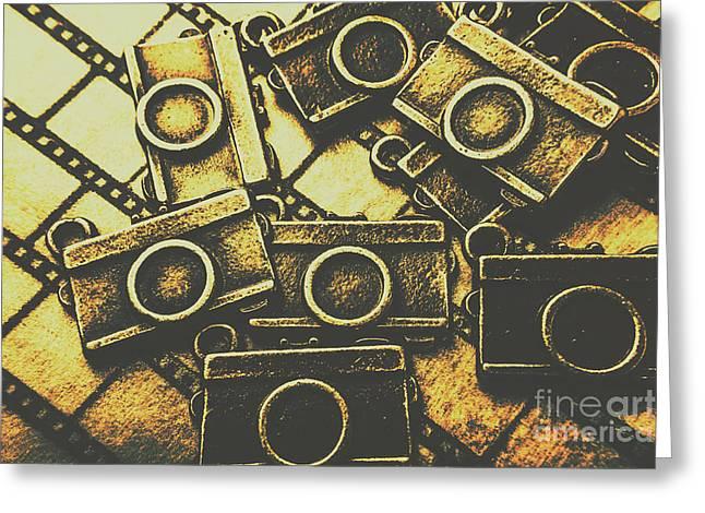 Vintage Film Camera Scene Greeting Card
