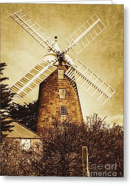 Vintage Flour Mill Greeting Card