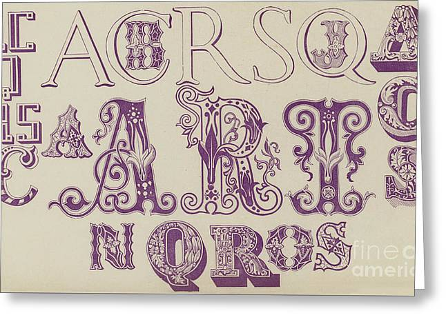 Vintage Fonts    Examples Of Letters  Greeting Card
