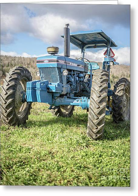 Vintage Ford 7610 Farm Tractor Greeting Card