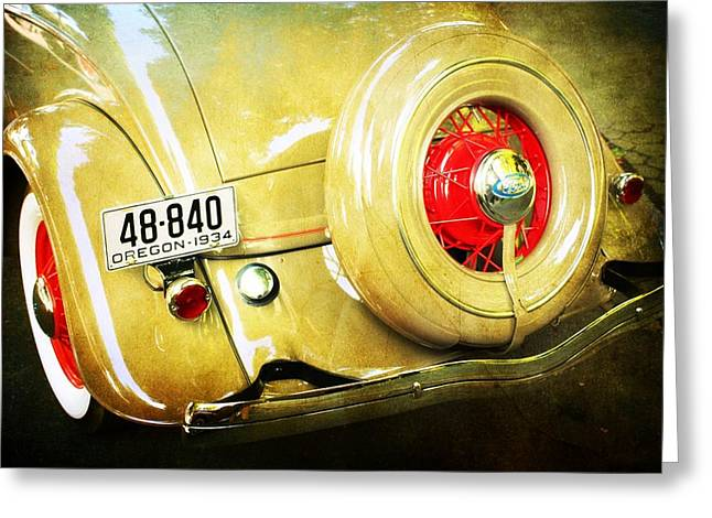 Vintage Ford Greeting Card by Cathie Tyler