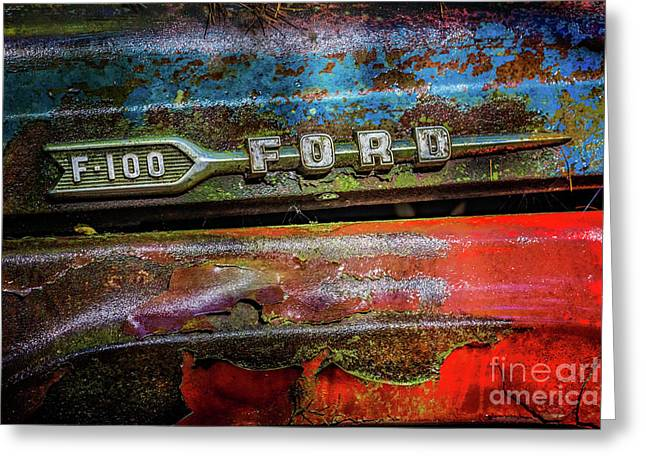 Vintage Ford F100 Greeting Card