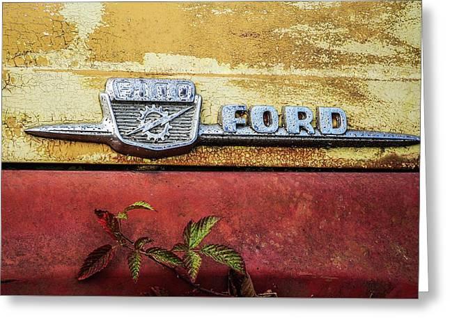 Vintage Ford Logo Greeting Card