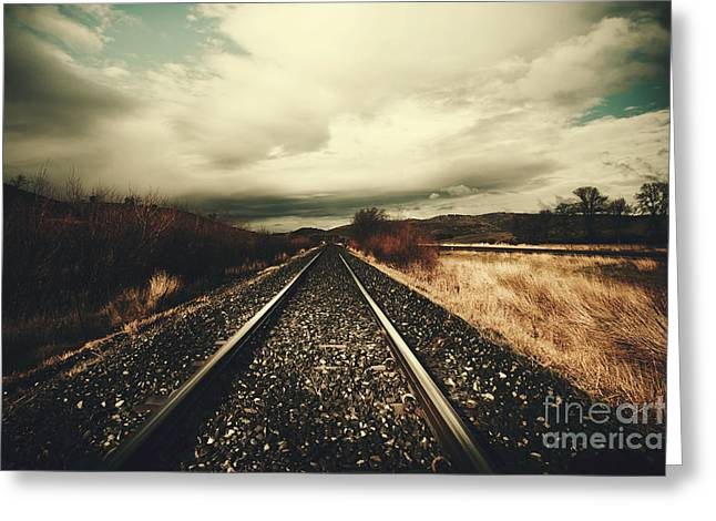 Vintage Freight Lines And Logistics Greeting Card