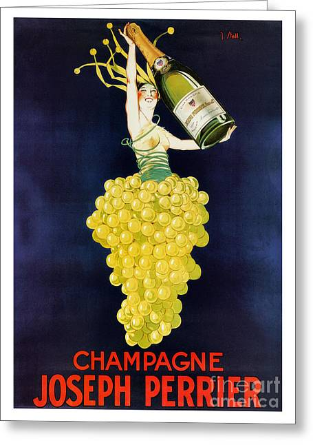 Vintage French Champagne Greeting Card