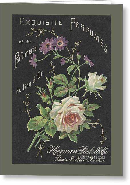 Vintage French Perfume  Greeting Card